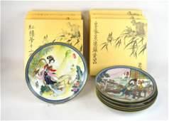 Zhao Huimin Six Chinese Porcelain Plates