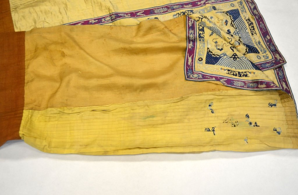 Chinese Light Yellow Silk Embroidered Skirt - 7