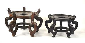 Two Chinese Wood Stands