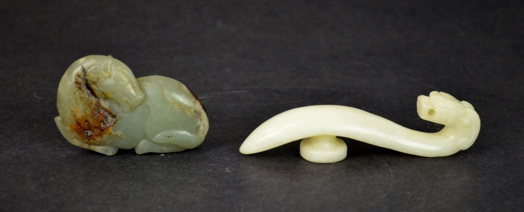 Two Chinese Carved Jade Pieces