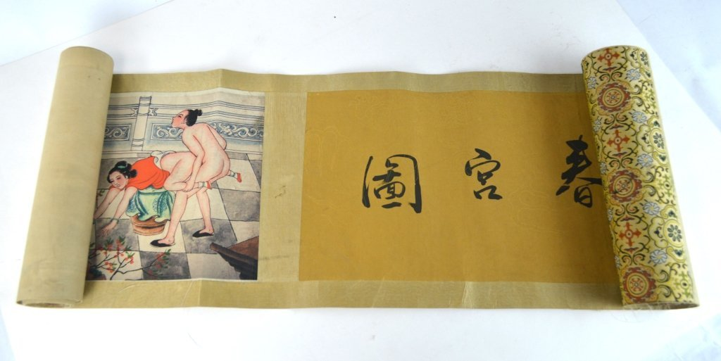 Chinese Erotic Painting Scroll