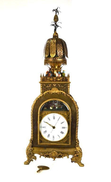 17/18th Cent Rare Chinese Gilt Bronze Clock