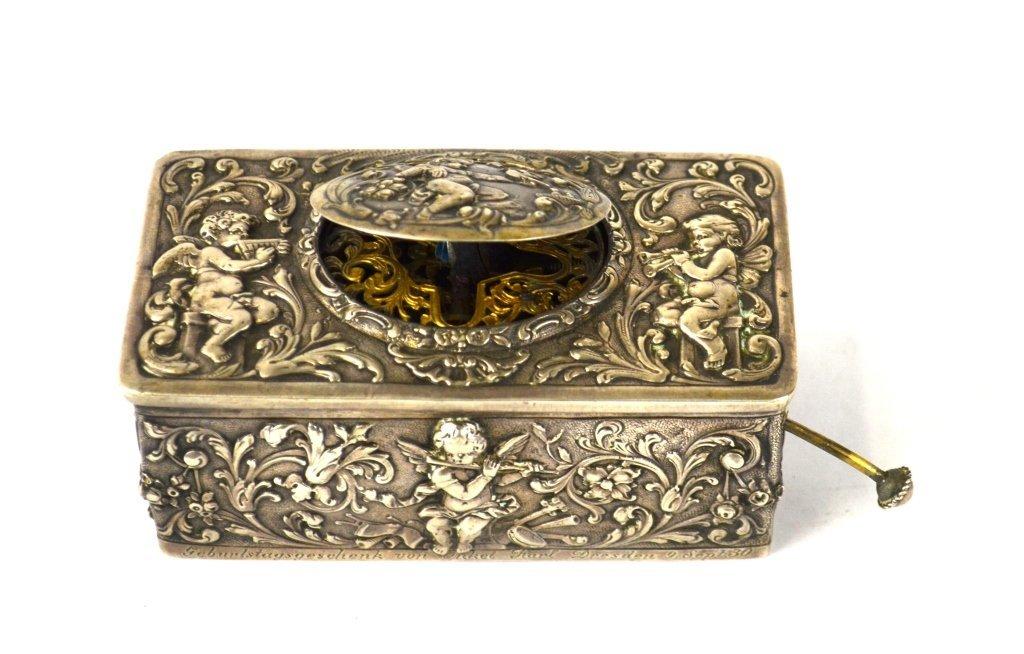 Silver Singing Bird Music Box