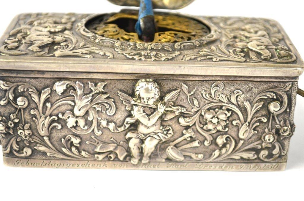 Silver Singing Bird Music Box - 3
