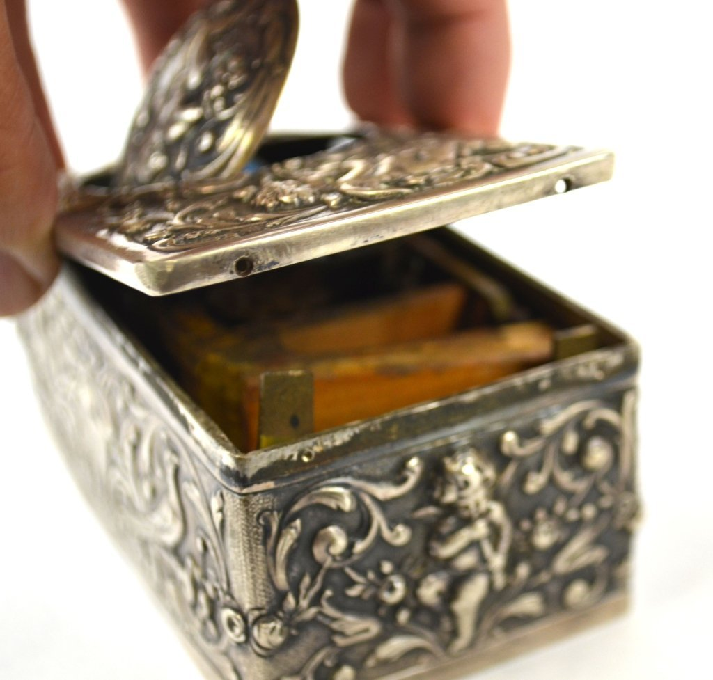Silver Singing Bird Music Box - 8