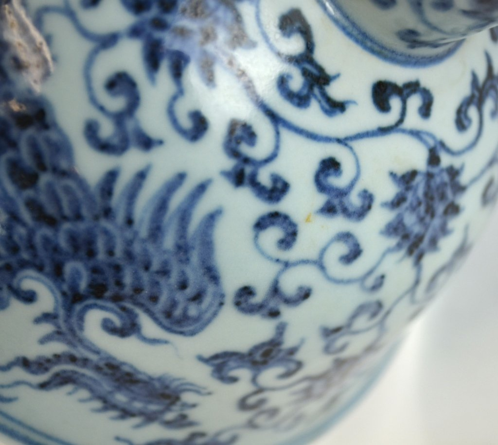 Chinese Blue & White Stem Cup - 8