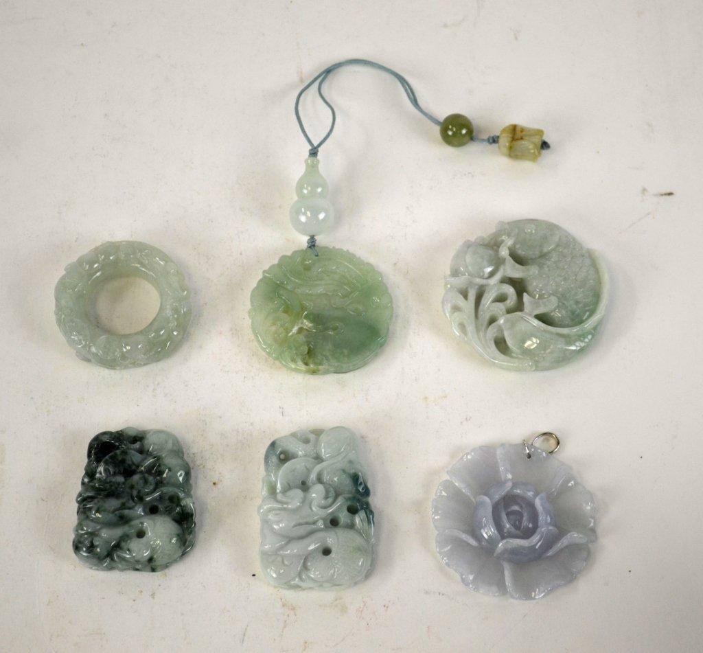 Six Pieces of  Chinese Jadeite