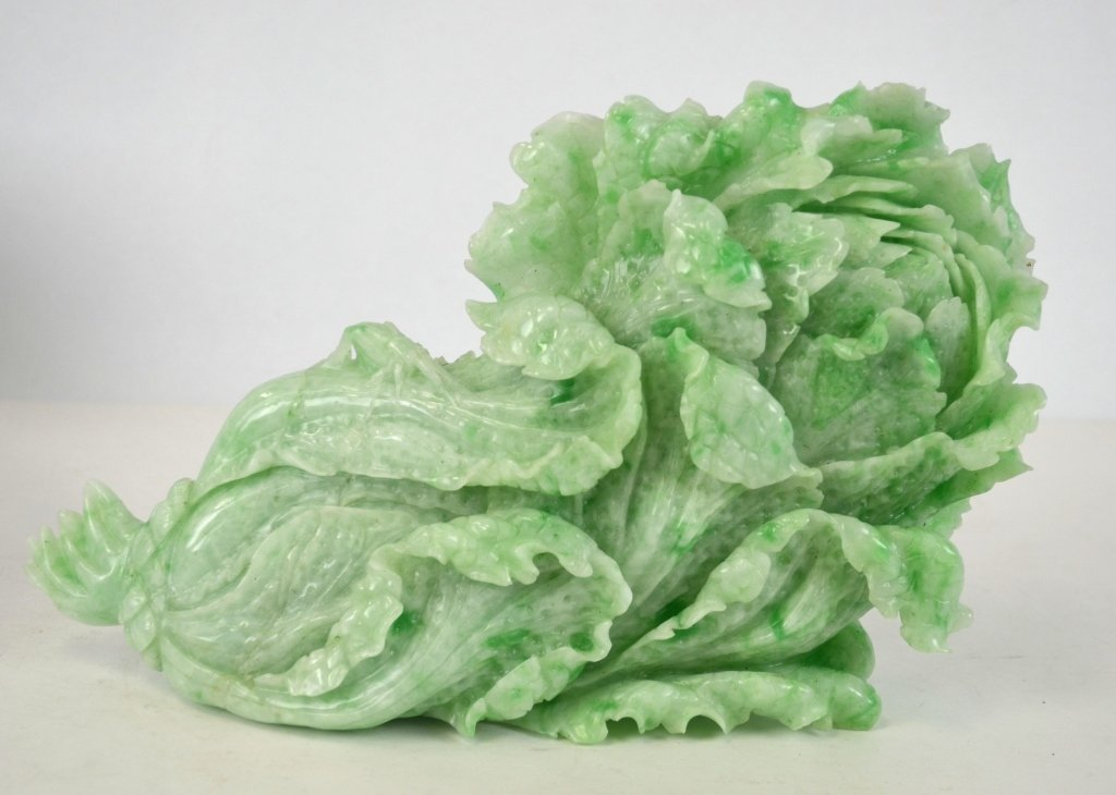 Chinese Carved Jade Cabbage