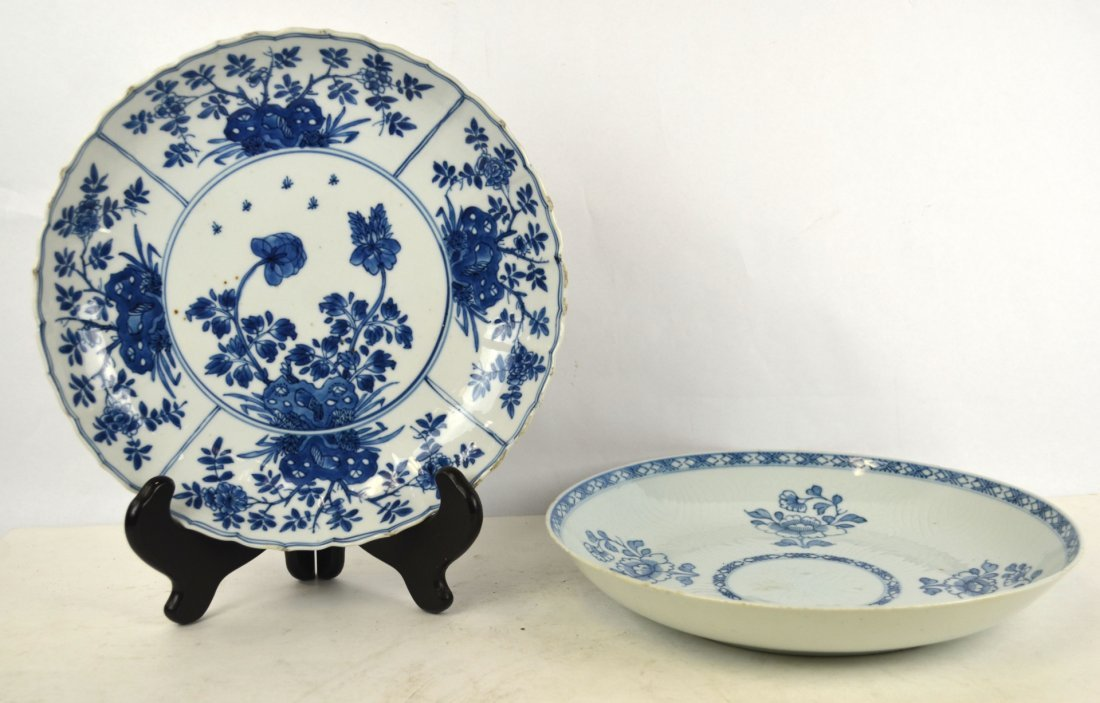 18th Cen. Two Chinese Blue & White Plates