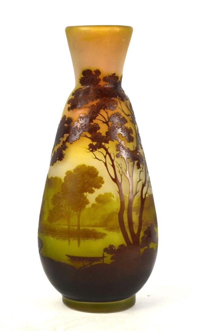 Large Galle Scenic Vase