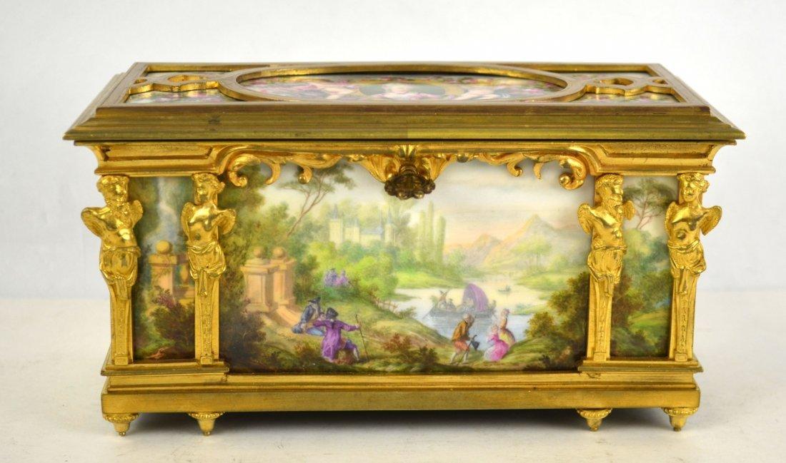 Tahan Paris Bronze and Enamel Box