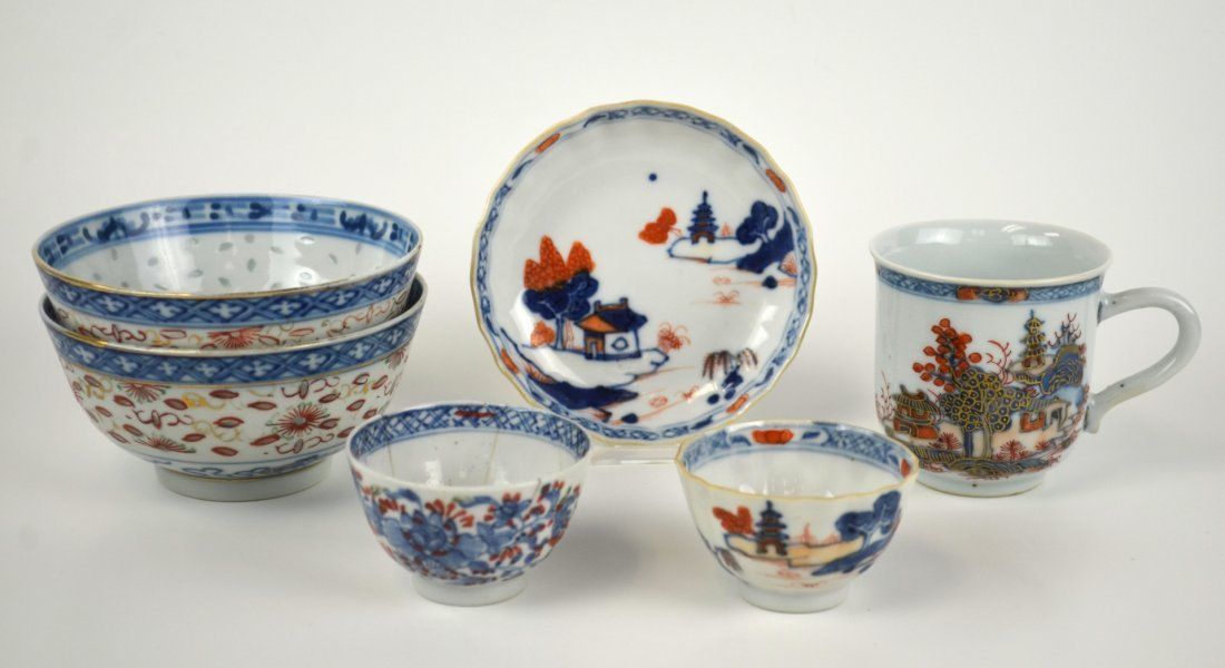 Six Chinese Porcelain  Pieces