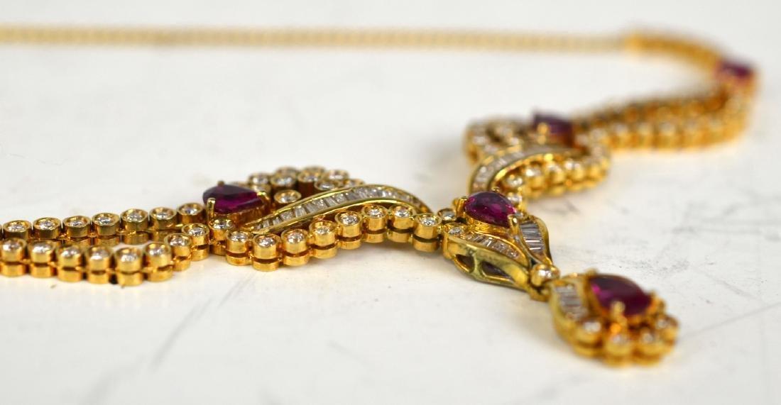 Tiffany & Co.18K Ruby w Diamond Necklace - 6