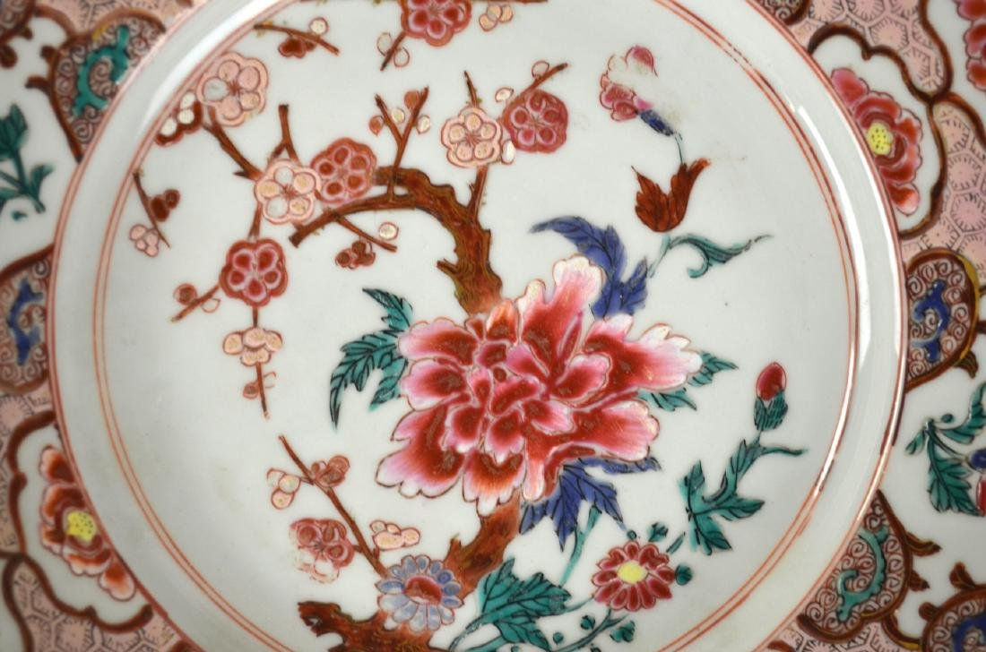 Three Chinese Rose Medallion Export Plates - 3