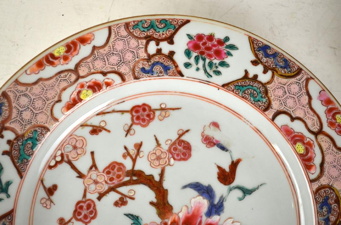 Three Chinese Rose Medallion Export Plates - 4
