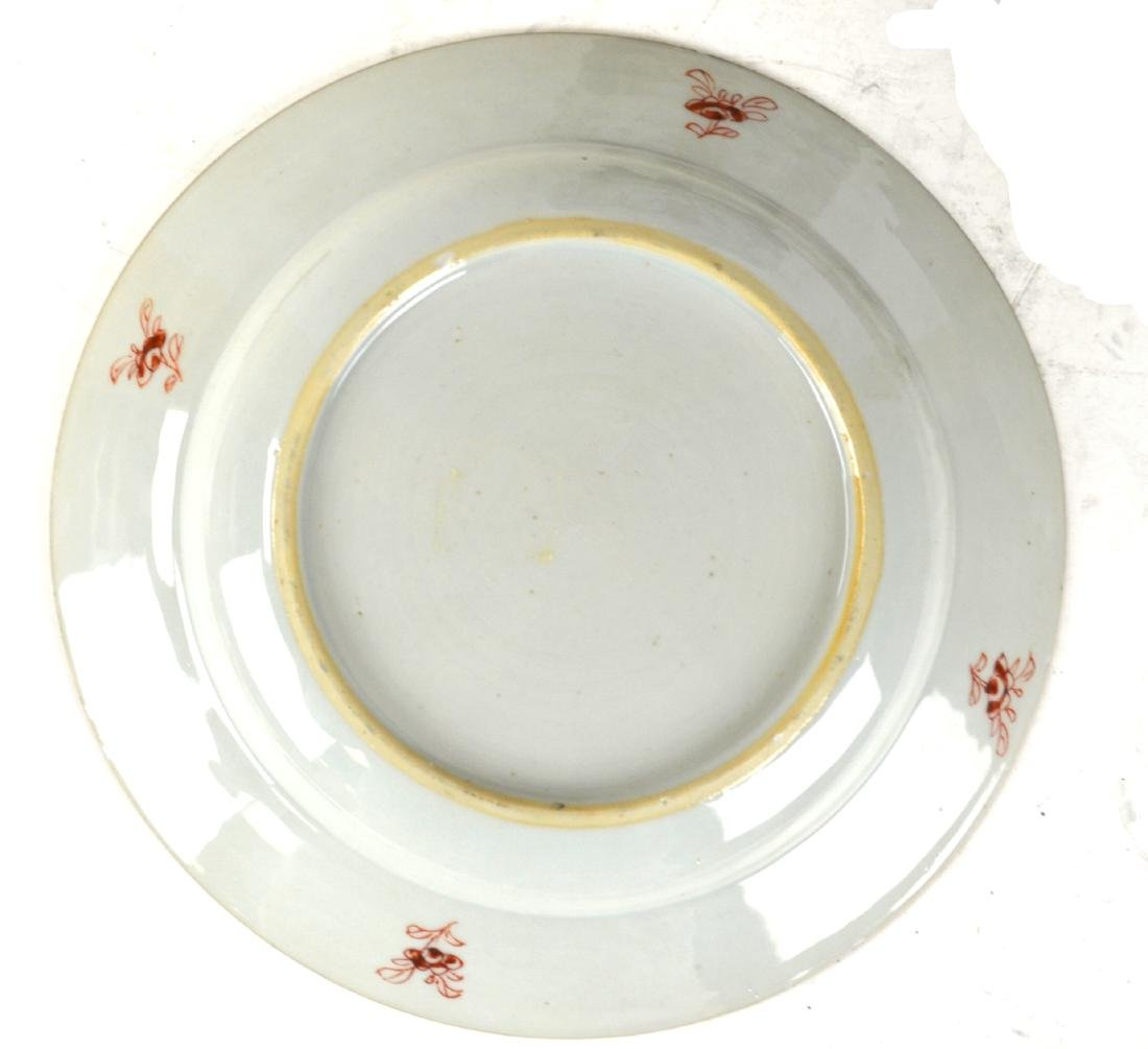 Three Chinese Rose Medallion Export Plates - 6