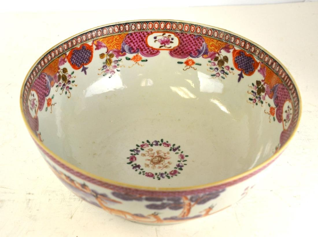 Chinese Rose Medallion Bowl with Deer - 2