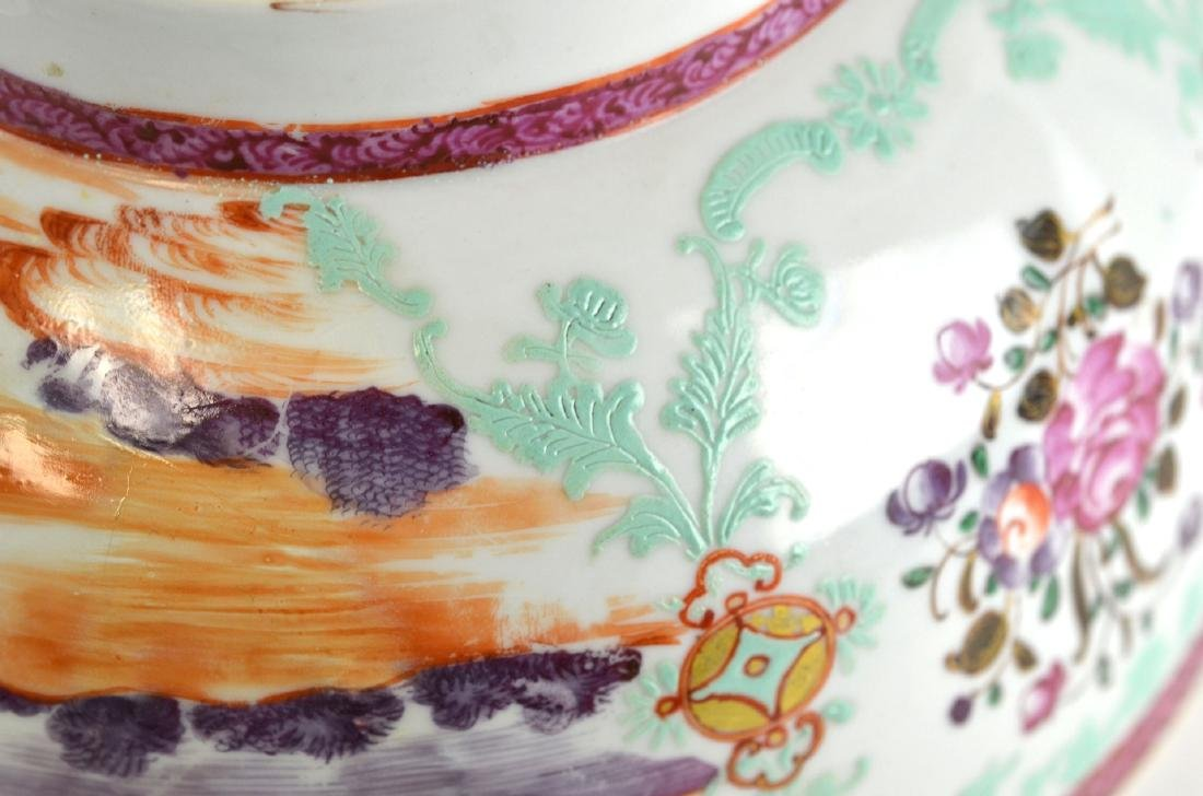 Chinese Rose Medallion Bowl with Deer - 9