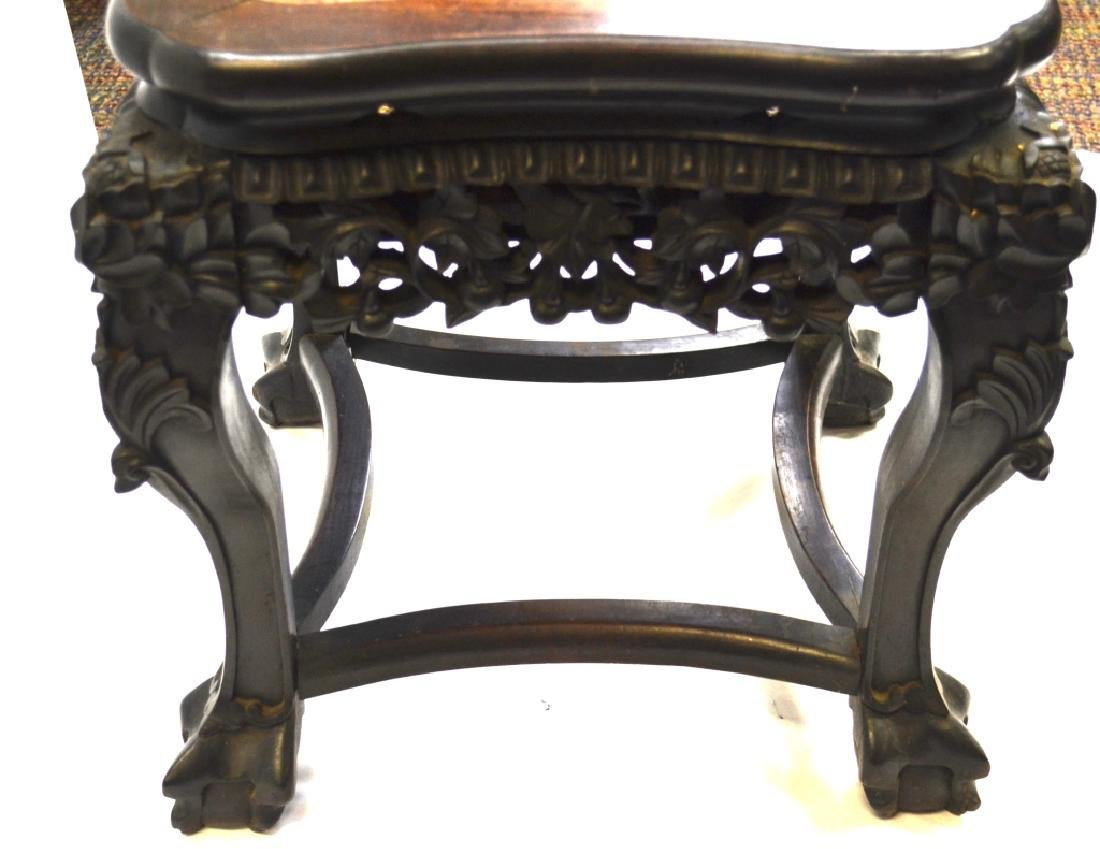 Chinese Stool with Marble Top - 2