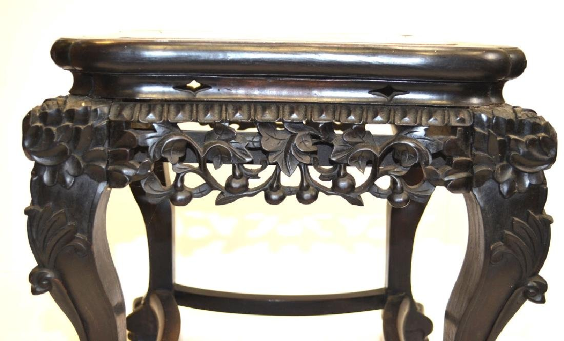 Chinese Stool with Marble Top - 3