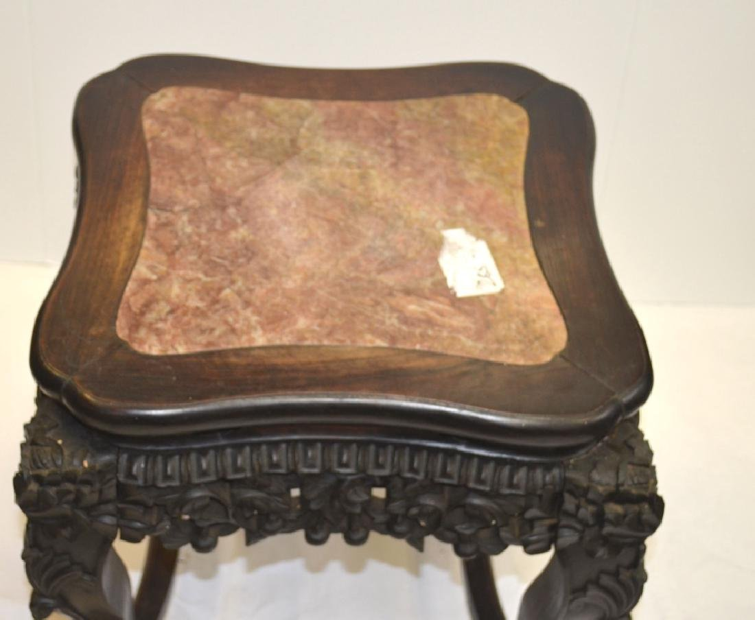 Chinese Stool with Marble Top - 5