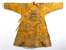 Chinese Imperial Yellow Dragon Robe