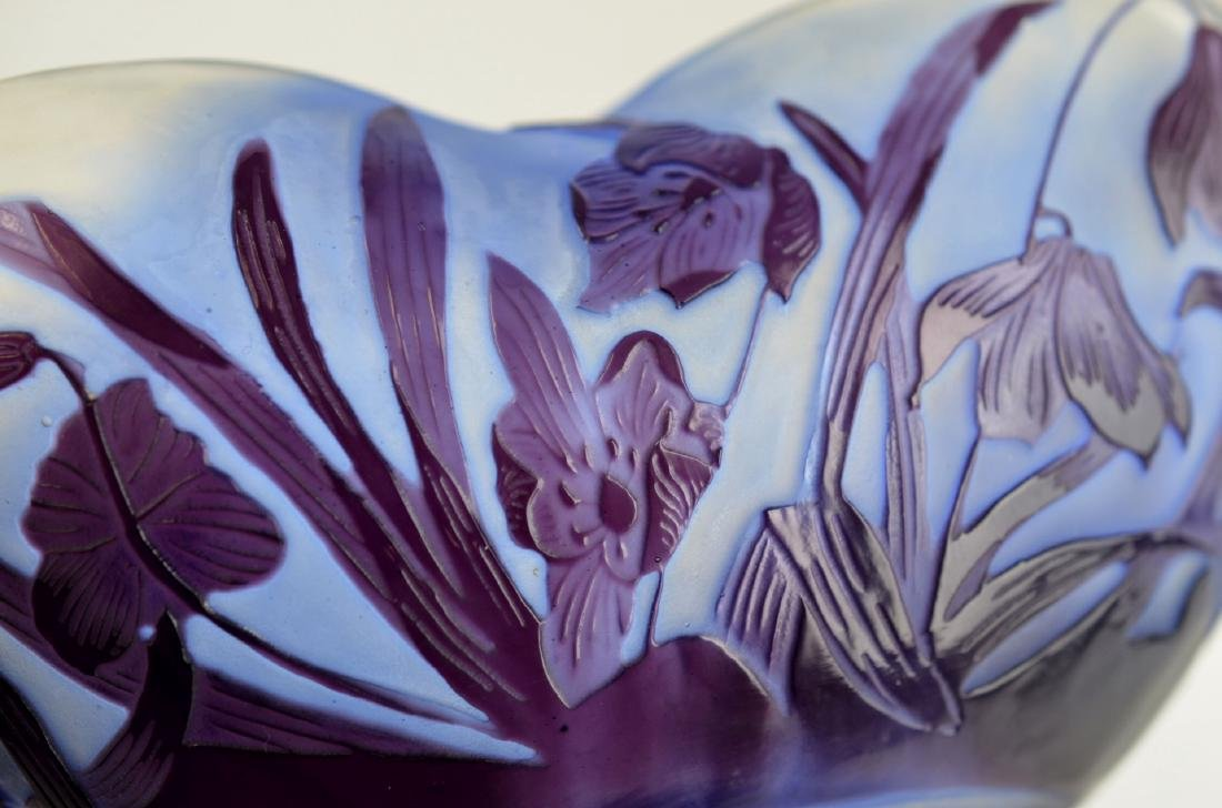 Galle Purple Triangle Glass Dish - 4