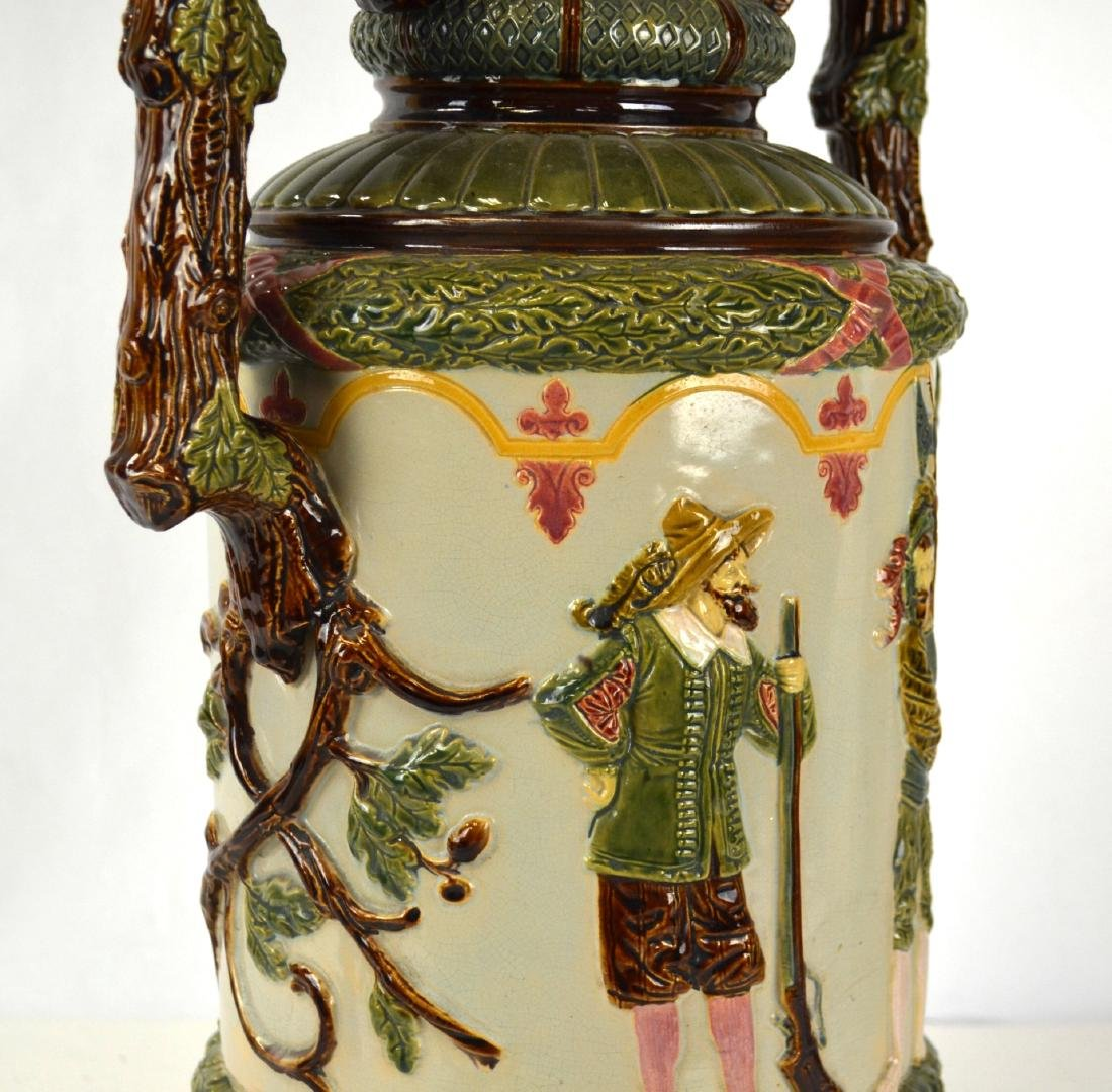 Large Majolica Vase with Two Handles - 5