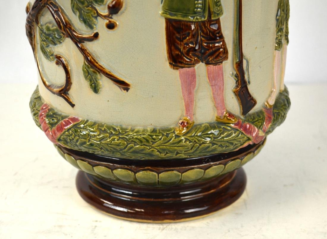 Large Majolica Vase with Two Handles - 7