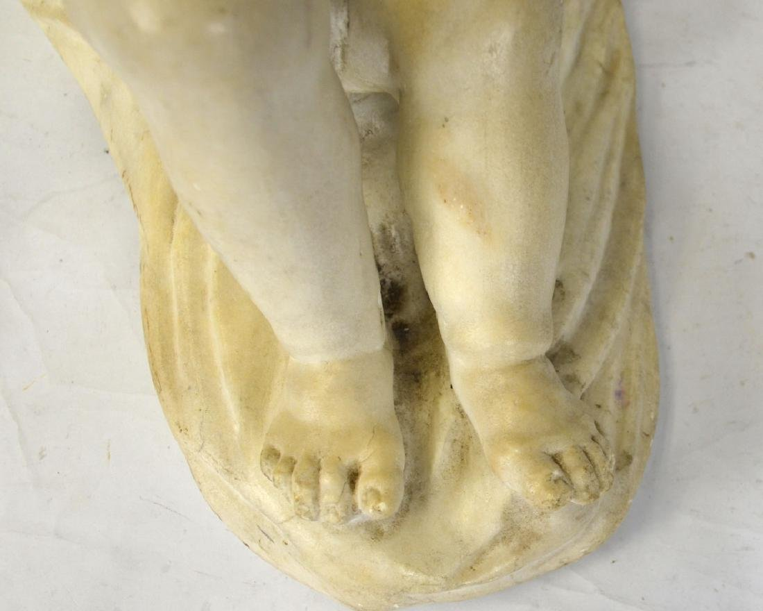 French Cupid White Marble Sculpture - 4