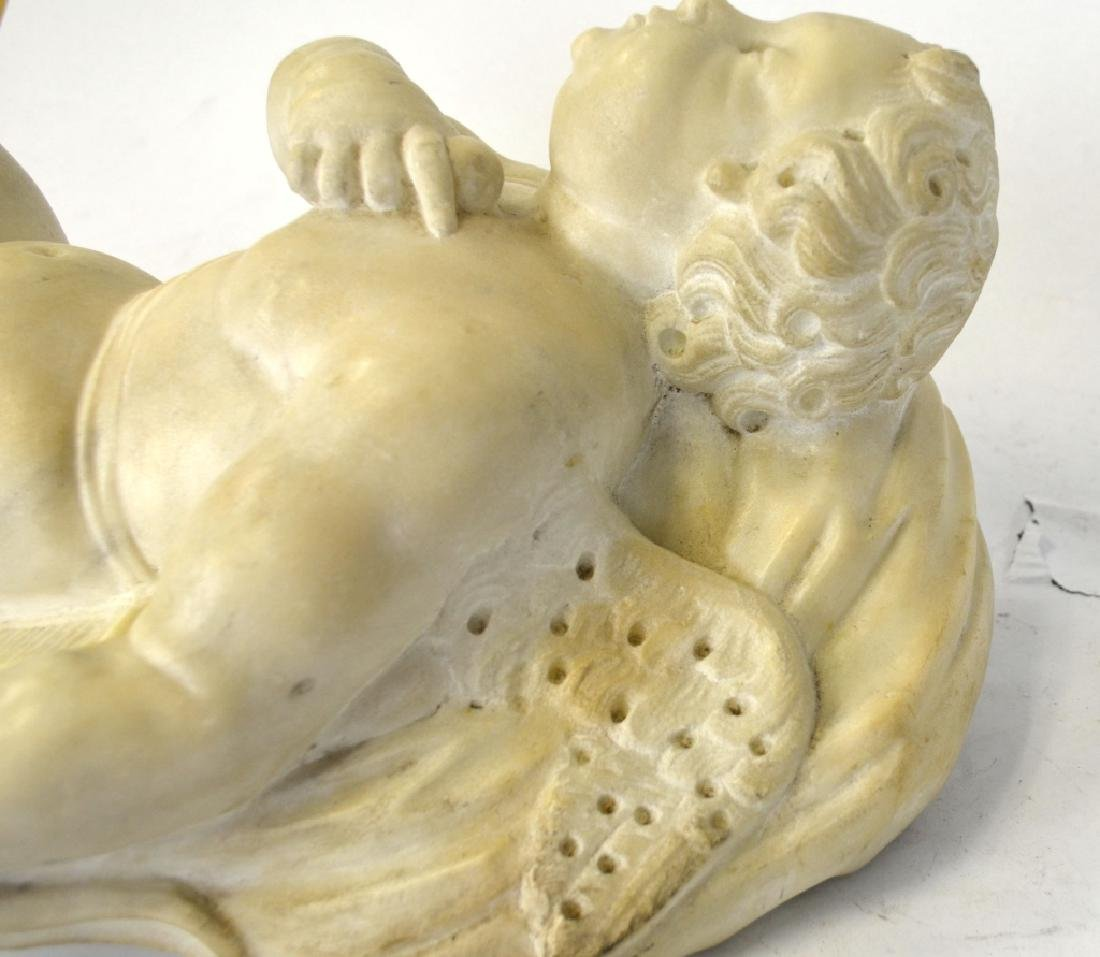 French Cupid White Marble Sculpture - 7