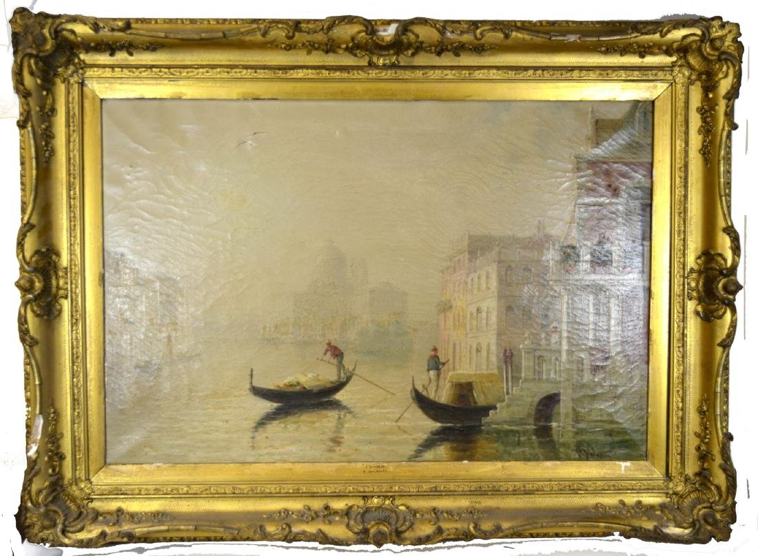 Framed painting Boat May