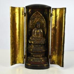 Japanese Lacquered Buddha Shrine