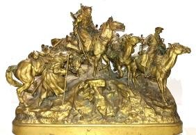 "Russian Bronze Sculpture ""The Crossing of The Balkans"""