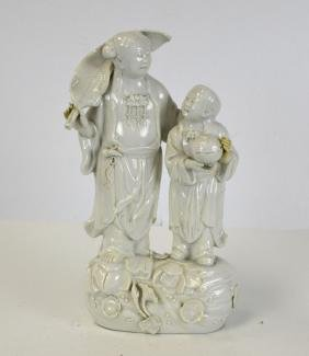 Chinese Blanc-De Chine Figural