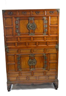 Chinese Two Stack Wood Cabinet