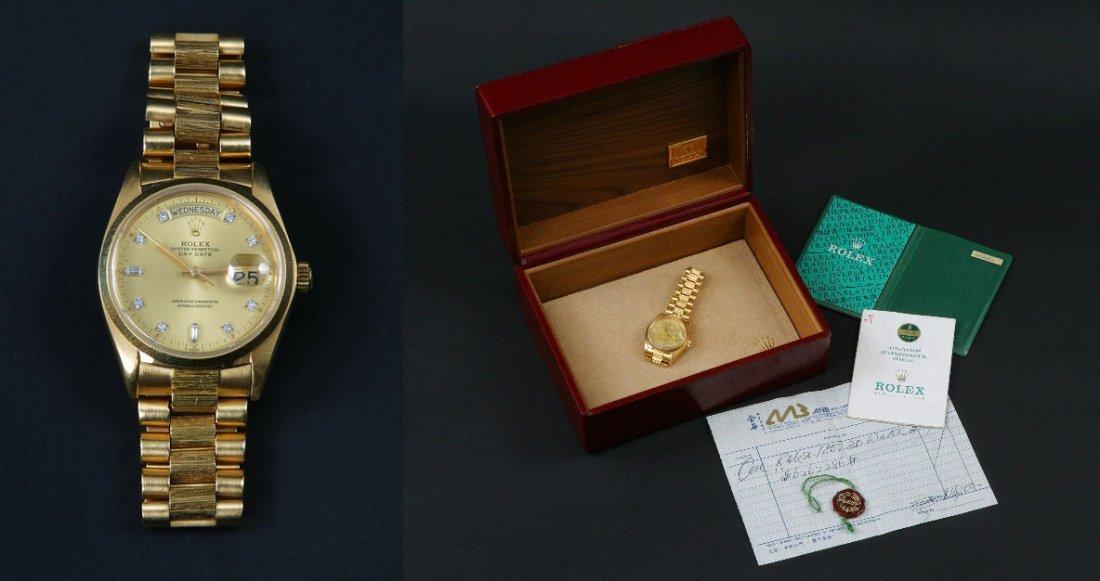 3: A Rolex 18 Carat Yellow Gold Watch