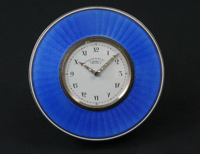6: A Fine guioche enamel silver time piece
