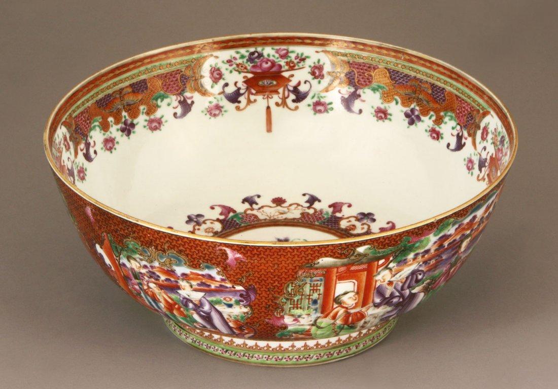 A Fine Chinese Export 'MANDARIN' PATTERN Bowl QIANLONG