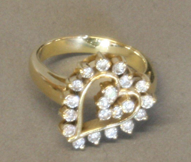 A Diamond Set Lady's Dress Ring. Modern. Set in high