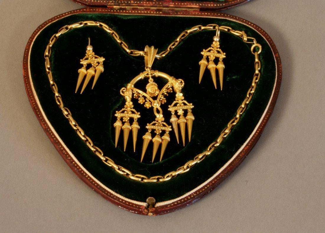 An Etruscan Revival High Carat Yellow Metal Necklace