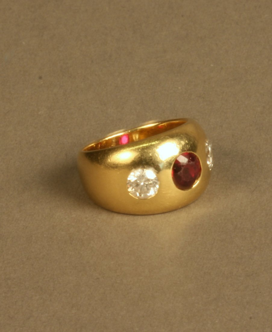 A Late Victorian 18 Carat Yellow Gold Ruby and Diamond