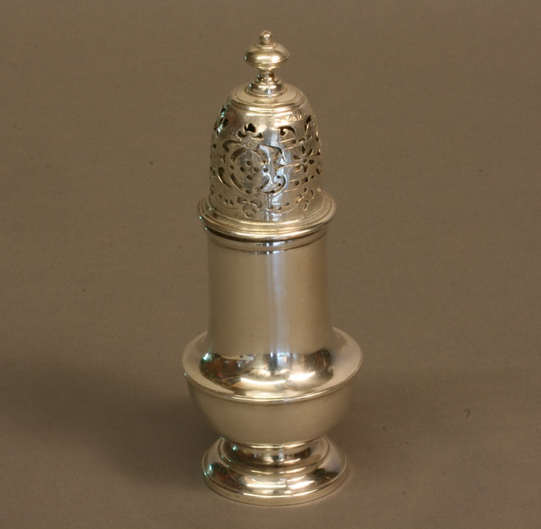 A George II Sugar Caster. London 1727. No makers mark.