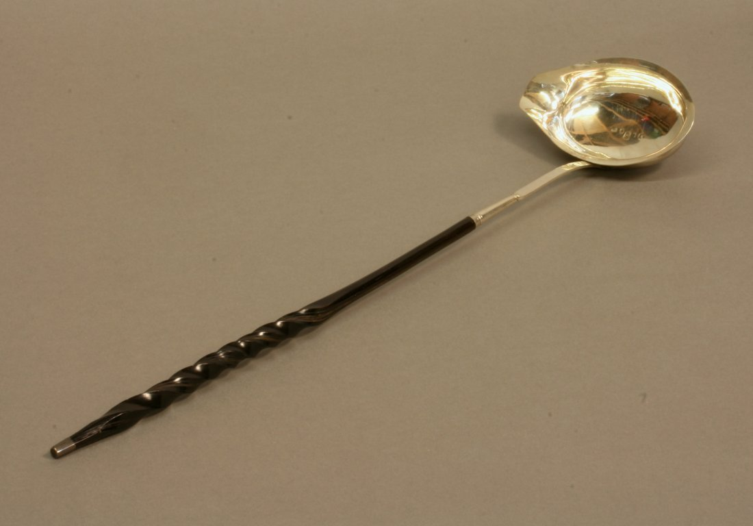 A George III Punch Ladle. London 1798. Makers mark JW.