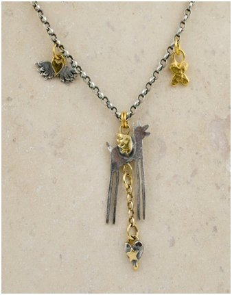 "Sophie Harley ""Winged Wolf†18†necklace"