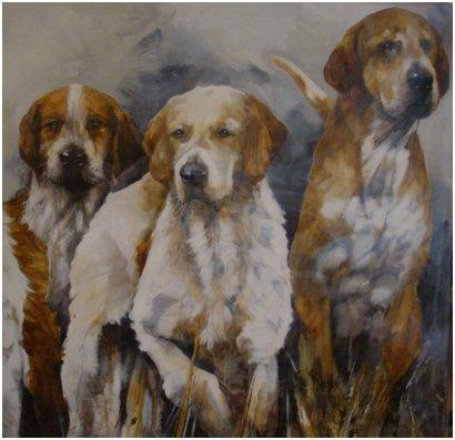 Minkhounds original painting Paula Vize