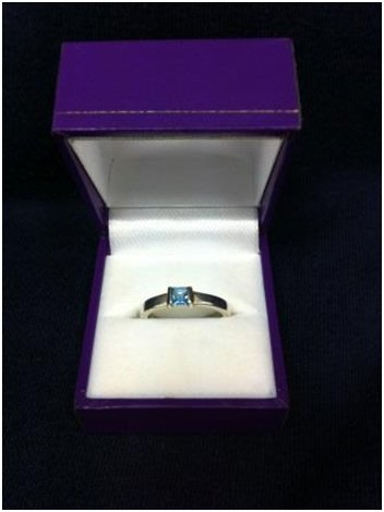 Silver & topaz ring Helen Burrell