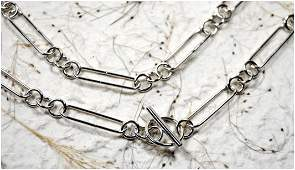 Sterling silver chain by Linda Tyler