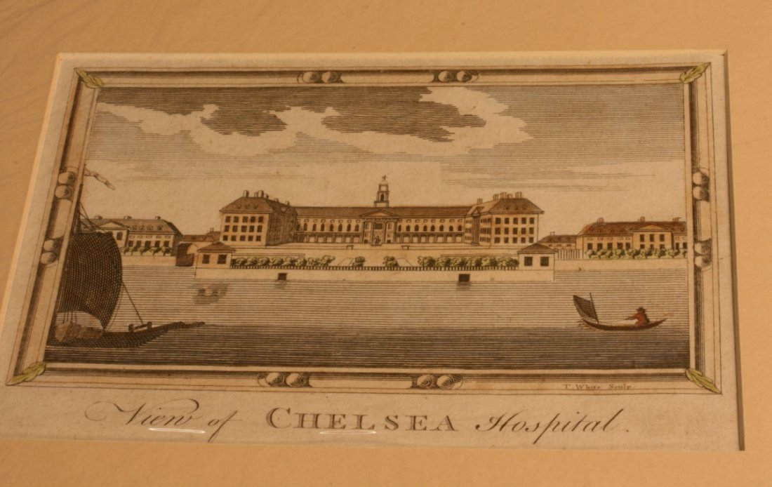 Engraving of Chelsea Hospital circa 1790