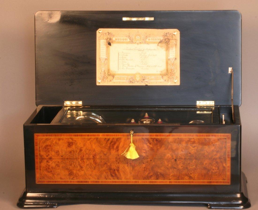 A Swiss Music Box. Late 19th century.